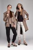 Abbigliamento casual del catalogo di stile di modo di fascino per l'affare Fotografia Stock