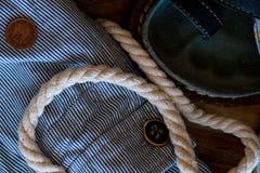 Abbigliamento dai materiali naturali Fotografia Stock