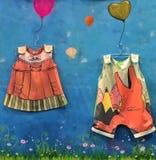 Abbigliamento dei bambini Fotografie Stock Libere da Diritti