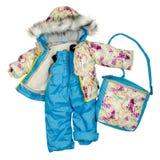 Abbigliamento dei bambini di inverno Immagini Stock