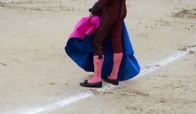 Abbigliamento del Bullfighter fotografie stock libere da diritti