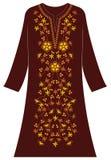 Abbigliamento del ` s delle donne: Rosa e Kemuning santo e foglie rotonde royalty illustrazione gratis