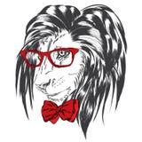 Abbigliamento di Leo hipster illustrazione vettoriale
