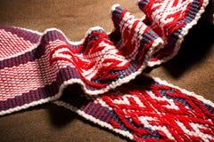 Abbigliamento etnico di vichingo del modello del ricamo Immagine Stock