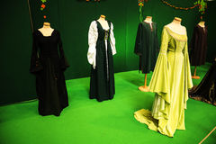 Abbigliamento femminile irlandese al festival dell'Irlanda a Roma Italia Immagini Stock Libere da Diritti
