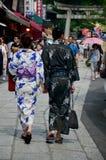 Abbigliamento giapponese (kimono e Yukatas) Fotografia Stock Libera da Diritti