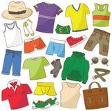 Abbigliamento maschile ed accessori di estate Fotografia Stock