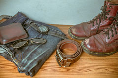 Abbigliamento per gli uomini - annata di tono Immagine Stock Libera da Diritti