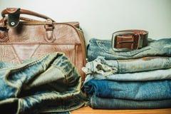 Abbigliamento per gli uomini - annata di tono Immagine Stock