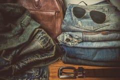 Abbigliamento per gli uomini - annata di tono Fotografia Stock Libera da Diritti