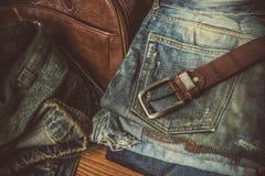 Abbigliamento per gli uomini - annata di tono Immagini Stock Libere da Diritti