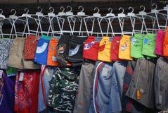 Abbigliamento per il venditore Fotografie Stock