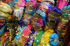 Abbigliamento variopinto dei cappelli di Fes Fotografia Stock