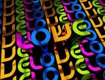 Abbildung 3D der Wort Liebe Stockbilder