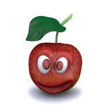 Abbildung 3d des roten Apfels Stock Abbildung