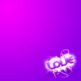 Abbildung 3D des Wort Liebes-Rosas Mini Stockfoto