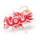 Abbildung 3D des Wort Liebes-Rotes 2 Lizenzfreie Stockbilder