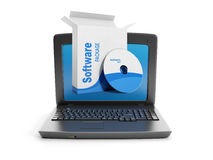 Abbildung 3d: Software. Stockfoto