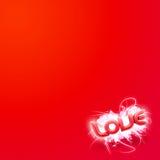 Abbildung 3D vom roten Mini der Wort Liebe Stockfotos