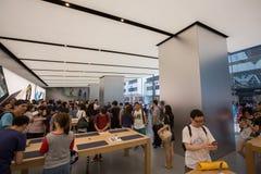 Abbildung Appleinc Öffnet neuen Hong Kong Store in der Bezirk-Straße Stockfoto