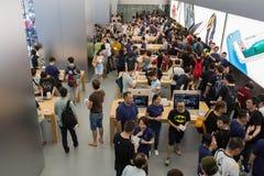 Abbildung Appleinc Öffnet neuen Hong Kong Store in der Bezirk-Straße Lizenzfreie Stockbilder