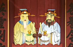 Abbildung auf dem Gatter des chinees Tempels Lizenzfreie Stockfotografie