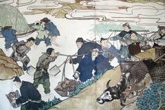 Abbildung auf der Wand Stockbilder