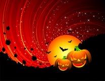Abbildung auf einem Halloween-Thema Stockfotos
