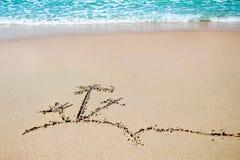 Abbildung auf Sand Stockbilder