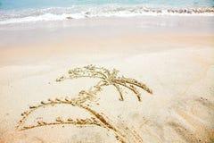 Abbildung auf Sand Stockbild