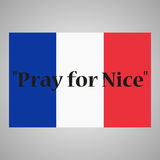 Abbildung auf weißem Hintergrund Phrase beten für geschriebenes Nizza Stockfotos