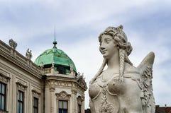 Abbildung am Belvedere, Wien Stockfotos