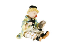 Abbildung Clownkünstler mit seinem Gestell Lizenzfreie Stockfotos