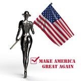 Abbildung 3D Der stilvolle Cyborg die Frau lizenzfreie abbildung