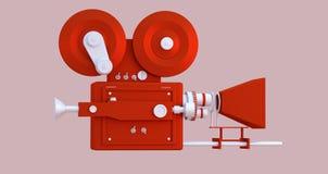 Abbildung 3D Film-Kinokamera-Karikaturart vektor abbildung