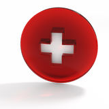 Abbildung 3D Schweizer Markierungsfahne apotheke Lizenzfreie Stockfotos
