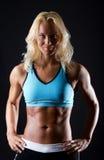Abbildung der athletischen Frau Stockfotografie