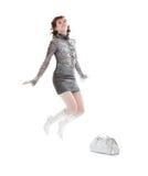 Abbildung der attraktiven Frau mit Einkaufstasche Lizenzfreie Stockfotografie