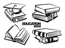Abbildung der Bücher Stockfotografie