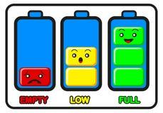 Abbildung der Batterieladung stock abbildung