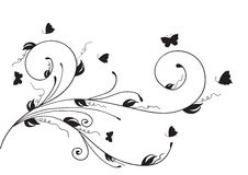 Abbildung der Blumenauslegung element Lizenzfreies Stockfoto