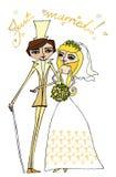 Abbildung der Braut und des Bräutigams Lizenzfreie Stockbilder