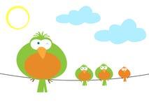 Abbildung der bunten Vögel lizenzfreie abbildung