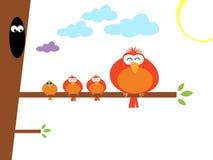 Abbildung der bunten Vögel stock abbildung