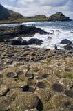 Abbildung der Dammes des Riesen in Nordirland. Stockfotografie