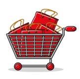 Abbildung der Einkaufstasche lizenzfreie abbildung