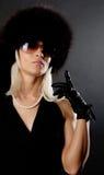 Abbildung der eleganten blonden Frau Lizenzfreie Stockfotografie