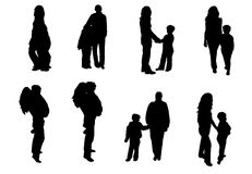 Abbildung der Familien Stockbilder
