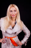 Abbildung der flirty Frau Stockfoto