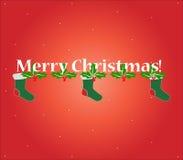 Abbildung der frohen Weihnachten Stockfoto
